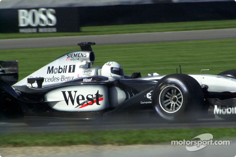 IRL driver Sarah Fisher did a demonstration run in the West McLaren Mercedes