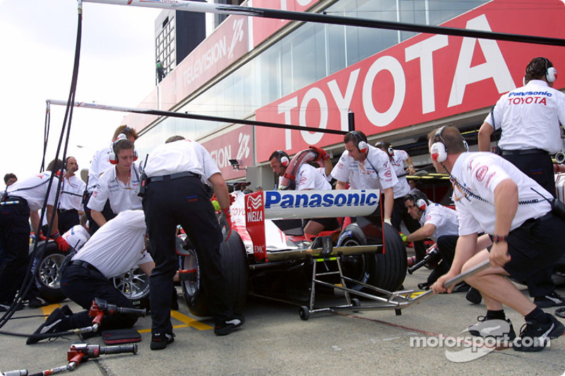 Pitstop practice at Team Toyota
