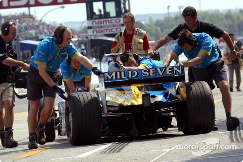 Jarno Trulli de vuelta al garage
