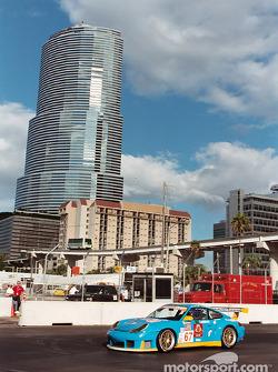 Porsche and tower