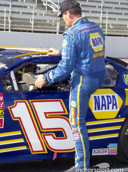 A tight fit for Michael Waltrip