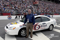 Nick Scheele, President and COO of Ford Motor Co. poses with the 6 Millionth Taurus built