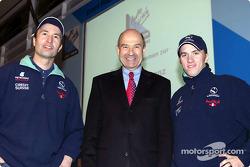 Heinz-Harald Frentzen, Peter Sauber y Nick Heidfeld