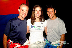 Rubens Barrichello, Bia Figueiredo y Felipe Massa