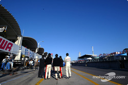 Pit road on the Sunday morning