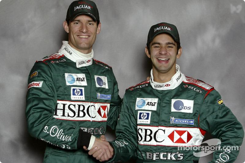 New Jaguar drivers Antonio Pizzonia and Mark Webber