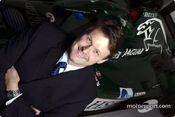 El nuevo director de Jaguar Racing, David Pitchford en el centro de operaciones del equipo en Milton Keynes