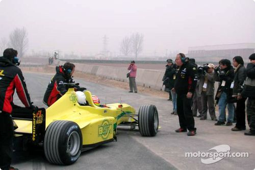 Minardi F1x2 demonstration in China