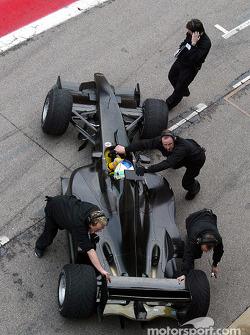 Jordan-Ford EJ13 first test: Giancarlo Fisichella