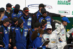Kevin Buckler and The Racers Group crew celebrate victory