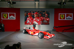 Jean Todt with the new Ferrari F2003-GA