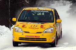 The Toyota Prius of Maciej Ogrocki and David Shindle finished first in class at the first round of the 2003 Canadian Rally Championship on Saturday at Maniwaki, QuÈbec