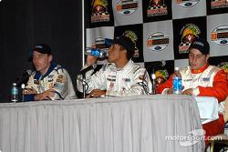 Press conference: pole winner Leonardo Maia with Josh Beaulieu and Dan di Leo