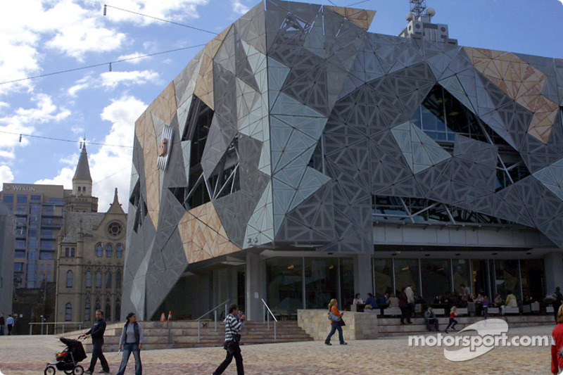 Formula 1 exhibit on Federation Square