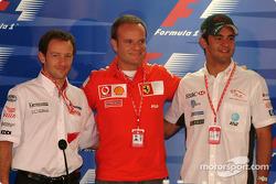 Thursday press conference: Cristiano da Matta, Rubens Barrichello and Antonio Pizzonia