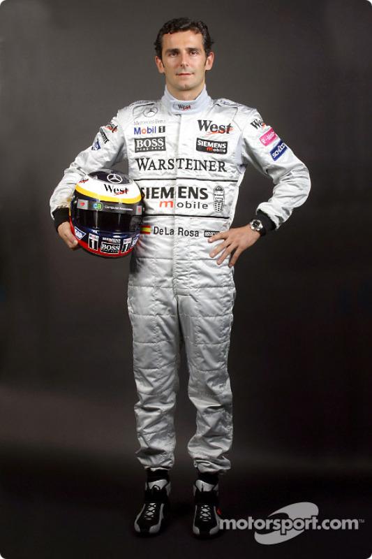 The new McLaren-Mercedes test driver Pedro de la Rosa