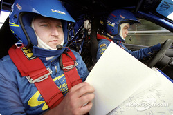 Canadian Rally Driver Pat Richard and Swedish Co-Driver Mikael Johansson drive the Subaru Rally Team Canada Impreza