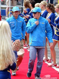 Drivers presentation: Jarno Trulli and Fernando Alonso