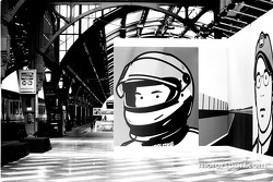 British artist Julian Opie brings together Art and Formula 1 racing