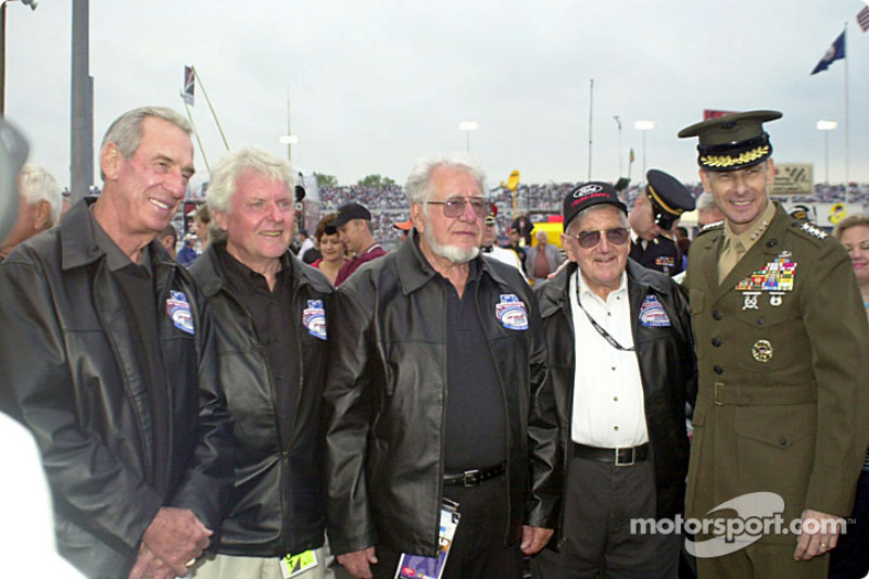 Ned Jarrett and others with General Pace