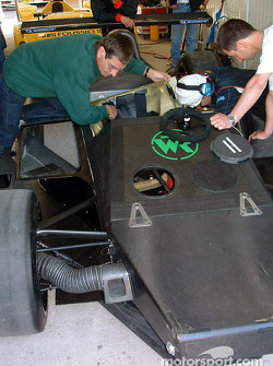 Chassis and suspension of the #25 Gerard Welter WR LMP01-Peugeot