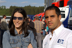 Juan Pablo Montoya with wife Connie