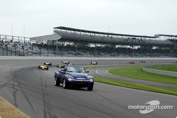 Chevrolet SSR official pace vehicle leads the field on pace lap