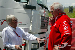 Bernie Ecclestone and Ove Andersson