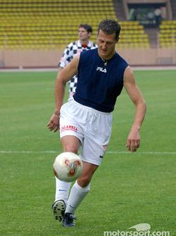 Football match at Stade Louis II in Monaco: Michael Schumacher