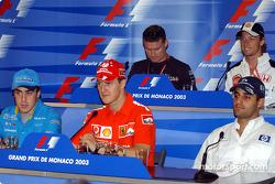 Rueda de prensa de la FIA del miércoles: Fernando Alonso, Michael Schumacher, Juan Pablo Montoya, David Coult