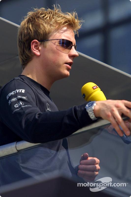 TV interview for Kimi Raikkonen