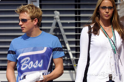 Kimi Raikkonen and girlfriend Jenny