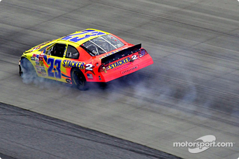 Kenny Wallace goes up in smoke