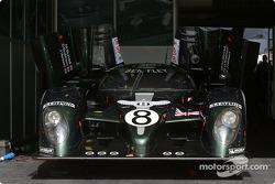 Team Bentley pit area