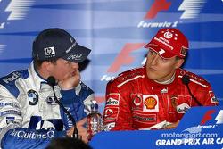 Conferencia de prensa: ganador Michael Schumacher y Ralf Schumacher