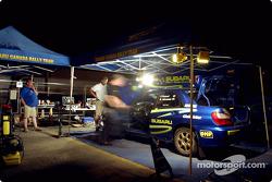 Subaru Rally Team Canada service area