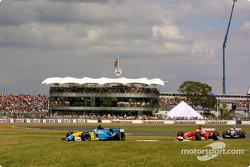 Jarno Trulli leads Rubens Barrichello