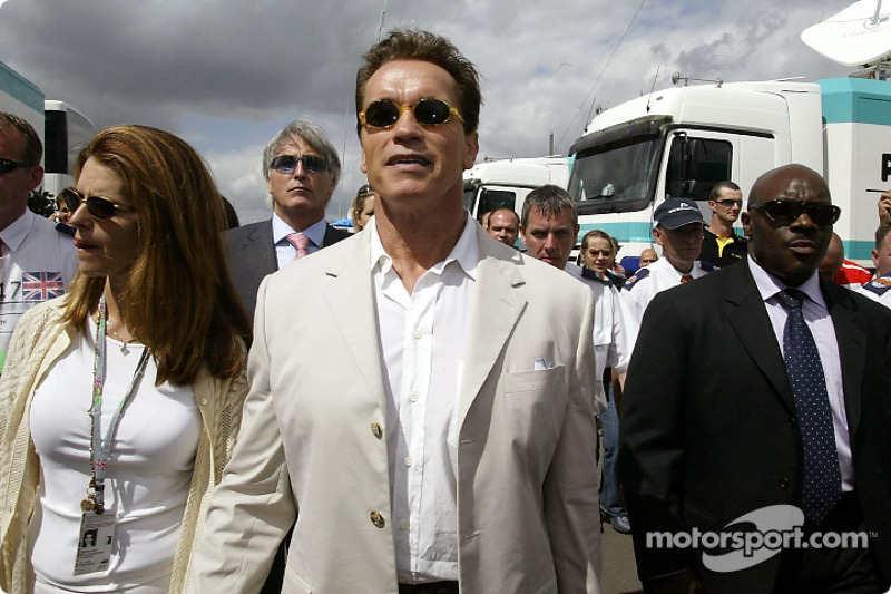 Arnold Schwarzenegger con esposa Maria