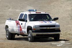 IMSA Safety Team roule au cours des qualifications de samedi