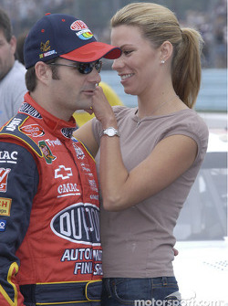 Jeff Gordon and friend