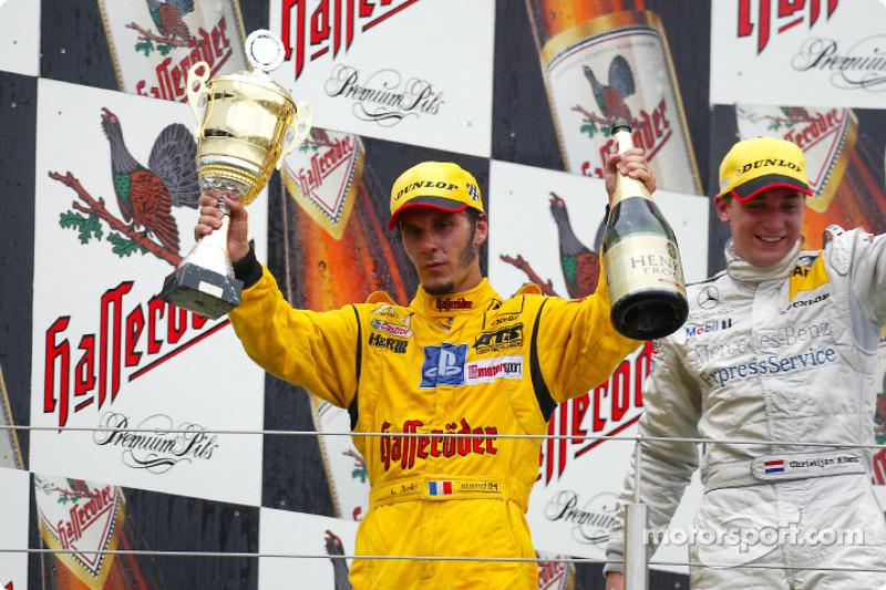 Podium: race winner Laurent Aiello