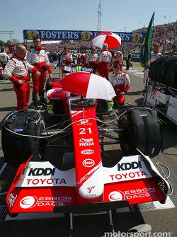 Toyota team members on starting grid