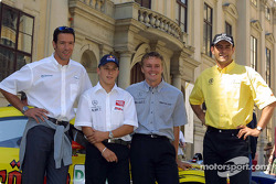Media event in Palais Ferstel, Vienna: Manuel Reuter, Marcel Fassler and Karl Wendlinger