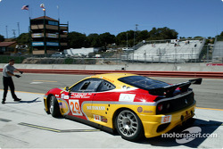 #29 JMB Racing USA/Team Ferrari Ferrari 360 Modena: Stephen Earle, Mark Neuhaus pulls out of it's pit stop