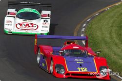 #112 1992 Spice Chevrolet, owned by Jim Mullen leads #6 1998 Porsche 962C, owned by Aaron Hsu