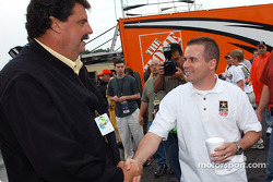 NASCAR President Mike Helton and Jerry Nadeau
