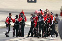 Ryan Newman's crew celebrates