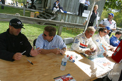 Drivers autograph session: Bill Auberlen and Didier Theys