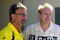 Eddie Jordan and Johnnie Rotten