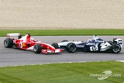 The Juan Pablo Montoya and Rubens Barrichello accident